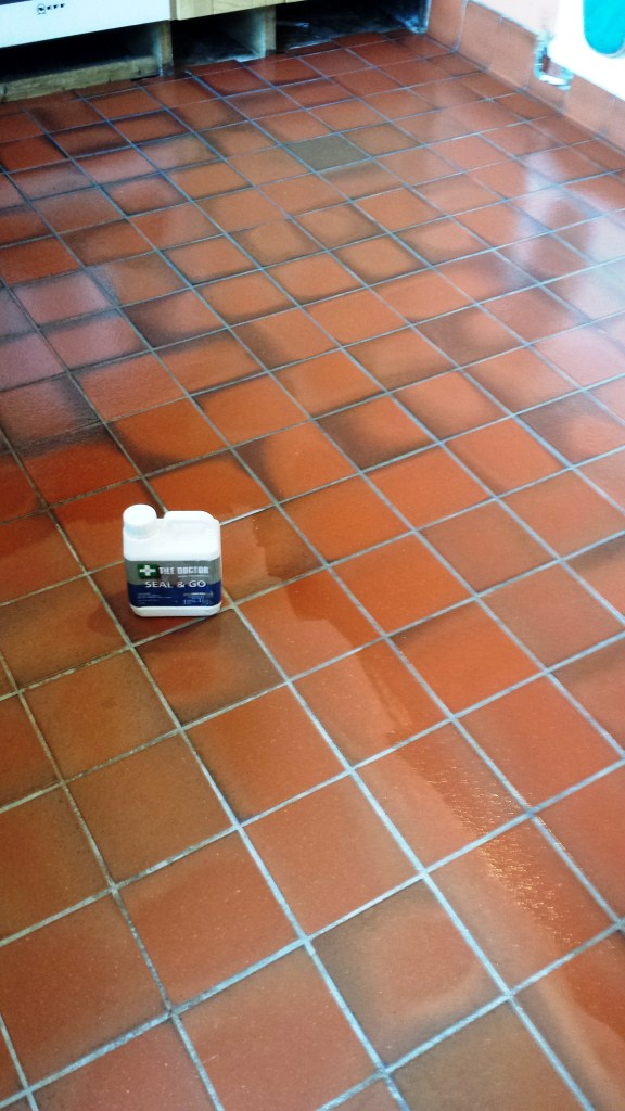 deep cleaning grubby quarry tiles  quarry tiled floors