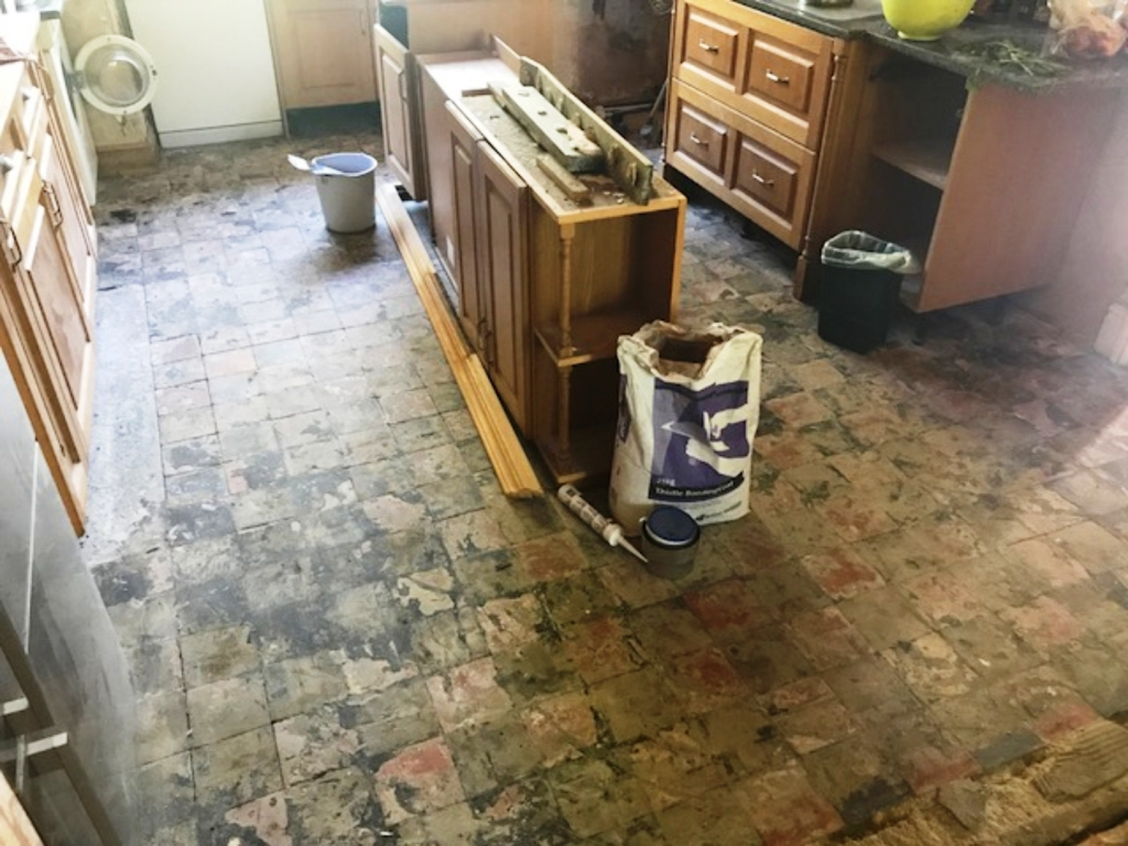 Quarry Tile Floor Restoration